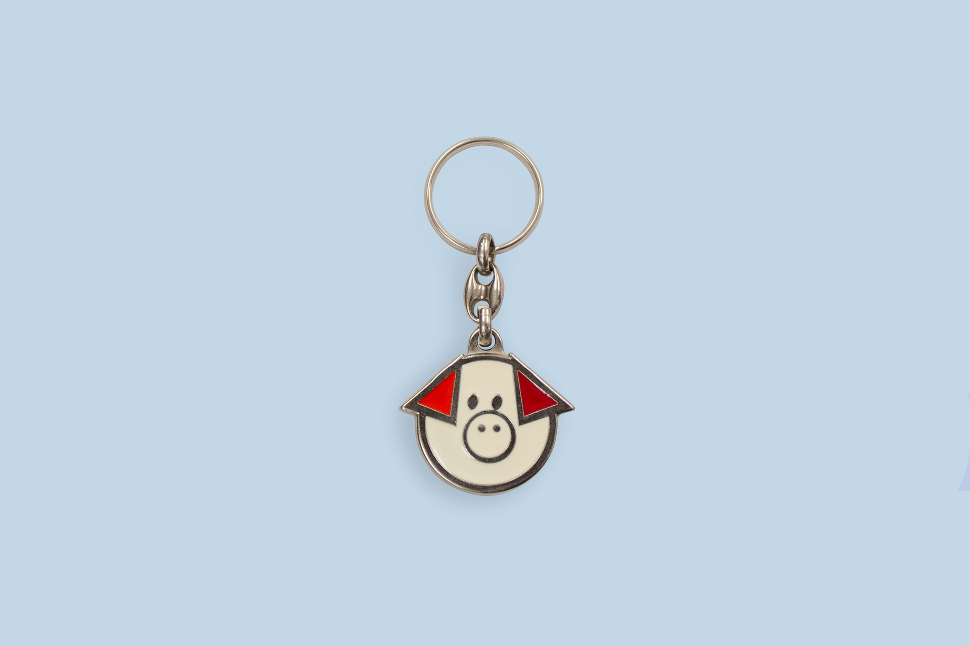 Nickel-plated enamel Keychain